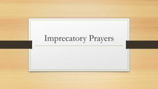 Imprecatory Prayers