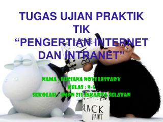 tugas ujian praktek tik ( pengertian internet dan intranet)
