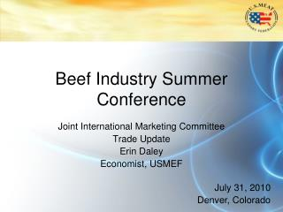 Beef Industry Summer Conference