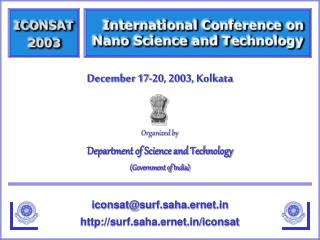 Organized by Department of Science and Technology (Government of India)