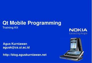 Qt  Mobile Programming Training Kit