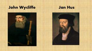 persecution john wycliffe jan hus and