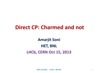 Direct CP: Charmed and not