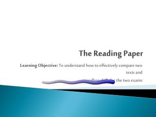 The Reading Paper