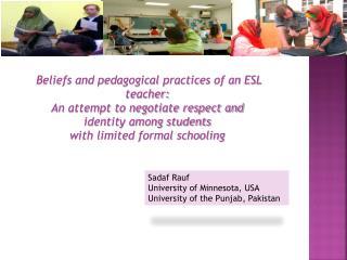 Beliefs and pedagogical practices of an ESL teacher: