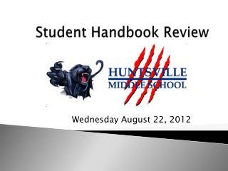 Student Handbook Review