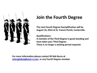 Join the Fourth Degree