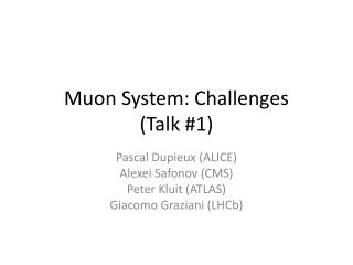 Muon System: Challenges  (Talk #1)
