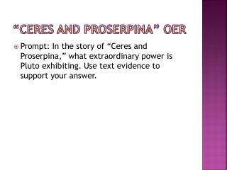 """Ceres and Proserpina"" OER"