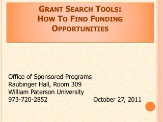 Grant Search Tools: How To Find Funding Opportunities