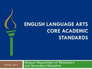 English Language arts core academic standards