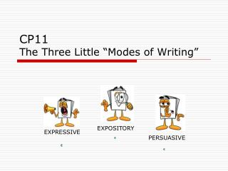 "CP11 The Three Little ""Modes of Writing"""