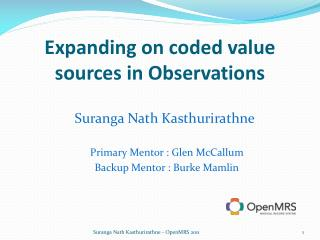 Expanding on coded value sources in Observations