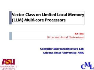 Vector Class on Limited Local Memory (LLM) Multi-core Processors