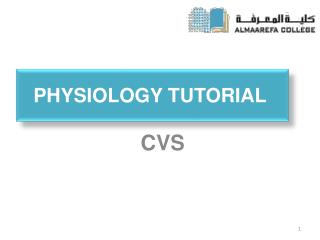 Physiology Tutorial