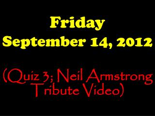 Friday September 14, 2012