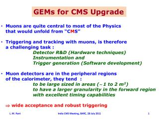 GEMs for CMS Upgrade