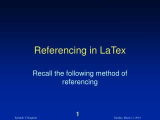 Referencing in LaTex