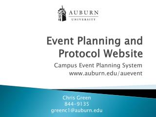 Event Planning and Protocol Website