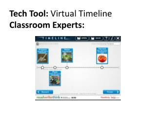 Tech Tool:  Virtual Timeline Classroom Experts: