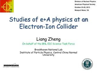 Studies of  e+A  physics at an Electron-Ion Collider