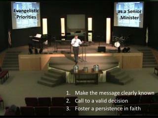 Evangelistic Priorities