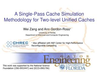 A Single-Pass Cache Simulation Methodology for Two-level Unified Caches