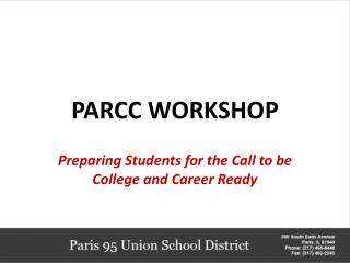 PARCC WORKSHOP