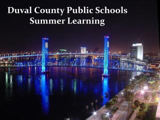 Duval County Public Schools Summer Learning