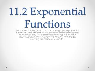 11.2 Exponential Functions