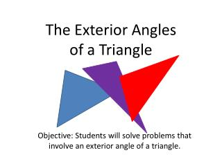 The Exterior Angles of a Triangle