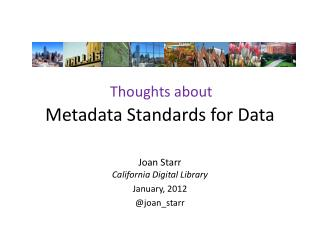 Metadata Standards for Data