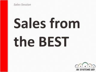 Sales from the BEST
