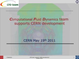 CERN May 19 th  2011