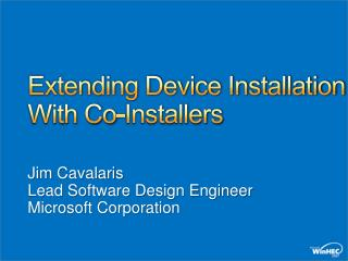 Extending Device Installation With Co-Installers