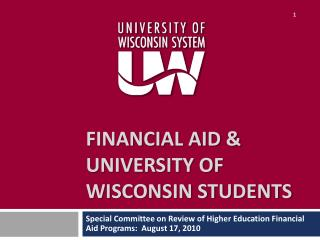 Financial Aid & University of Wisconsin Students