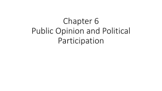 Chapter 6 Public Opinion and Political Participation