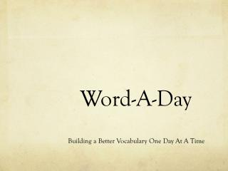 Word-A-Day