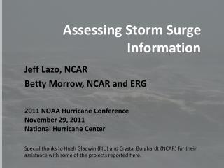 Assessing Storm Surge Information