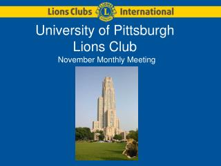 University of Pittsburgh Lions Club