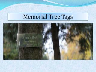 Memorial Tree Tags