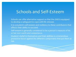 safeguarding self esteem and children