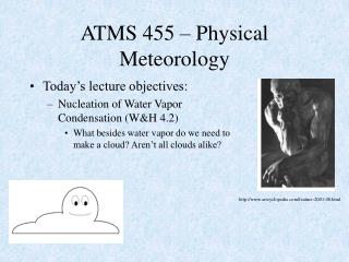 ATMS 455 – Physical Meteorology