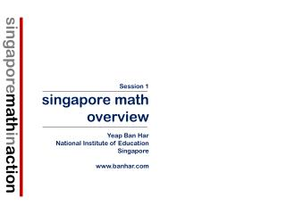 singapore math in action