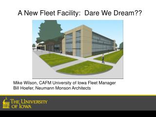 A New Fleet Facility:  Dare We Dream??