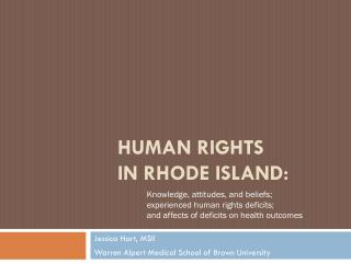 Human Rights  in Rhode Island: