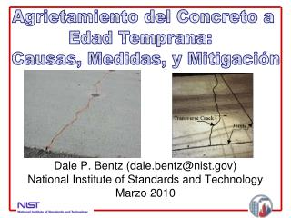 Dale P. Bentz (dale.bentz@nist) National Institute of Standards and Technology Marzo  2010