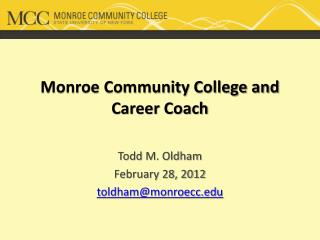 Monroe Community College and Career Coach