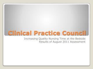 Clinical Practice Council