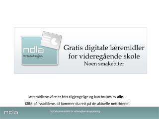 Digitale læremidler for videregående opplæring